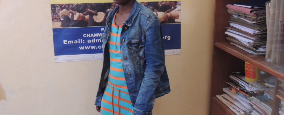 Stella a form four graduate visited CAC office